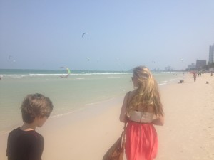 Watching daddy learn to kitesurf